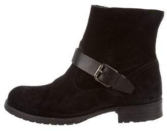 NDC Suede Round-Toe Ankle Boots