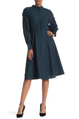 Walter W118 by Baker Charlotte Stripe Mock Neck Dress
