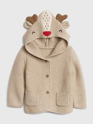 Gap Reindeer Garter Hoodie Sweater