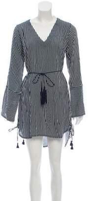 Faithfull The Brand Striped Knee-Length Dress w/ Tags