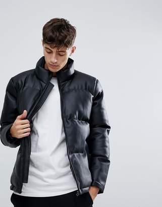 D-Struct Faux Leather Pu Puffer