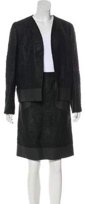 Fendi Textured Knee-Length Skirt Suit