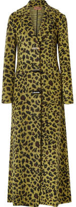 Missoni Leopard-print Knitted Coat - Yellow