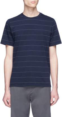 Theory Pinstripe Pima cotton T-shirt