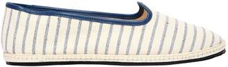 Vibi Venezia 10mm Cambiaghi Striped Canvas Loafers