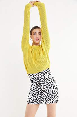 Lazy Oaf Dalmatian Zip-Front Skirt