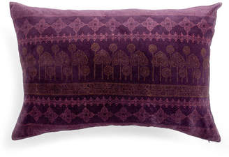Home Address Plum Velvet Cushion