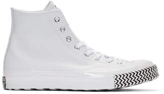 Converse White Leather Chuck 70 Mission V Hi Sneakers