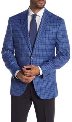 Jack Victor Conway Plaid Two Button Notch Lapel Wool Sport Coat