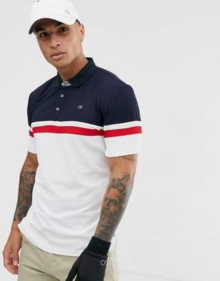 Calvin Klein Golf pendant polo in white
