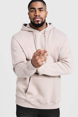 BoohoomanBoohooMAN Mens Big And Tall Basic Over The Head Fleece Hoodie,