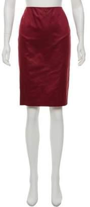 Genny Satin Knee-Length Skirt