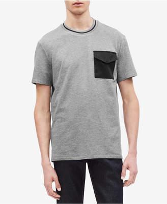 Calvin Klein Men Contrast Pocket T-Shirt