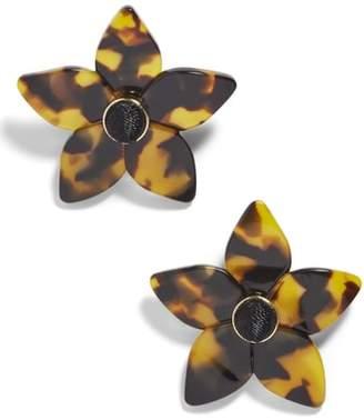 BaubleBar Ashaya Resin Flower Earrings