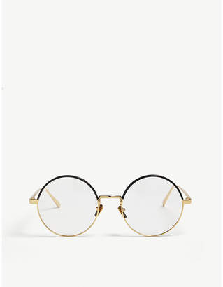 c164f18337d at Selfridges · Linda Farrow Lfl538 round-frame sunglasses