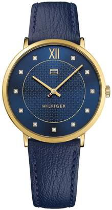 Tommy Hilfiger Navy Crystal Dress Watch