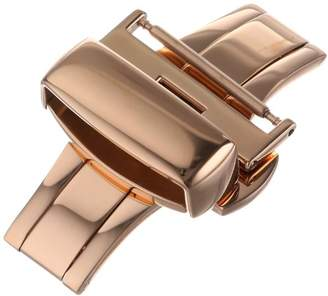 Hadley-Roma 20-mm IP Rose Gold-Plated Push Button Deployant Clasp