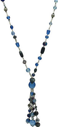 One Kings Lane Vintage Glass Bead Tassel Necklace - Thanks for the Memories