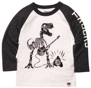 Osh Kosh Long-Sleeve Embellished Dinosaur Tee