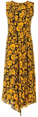 Kenzo floral leaf midi dress