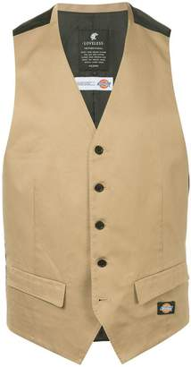 Dickies Loveless LOVELESS x contrast formal vest