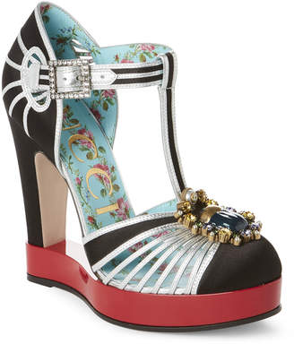 Gucci Multicolor Platform Pumps