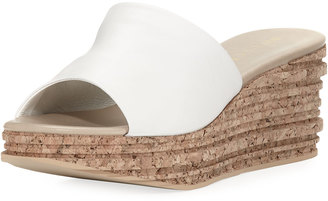 Sesto Meucci Amanda Slide Cork Wedge Sandal, White $159 thestylecure.com