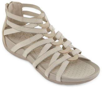 Yuu Womens Tildy Criss Cross Strap Gladiator Sandals