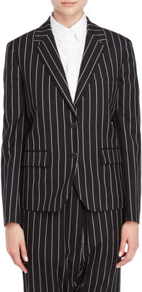 Jil Sander Black Striped Two-Button Blazer