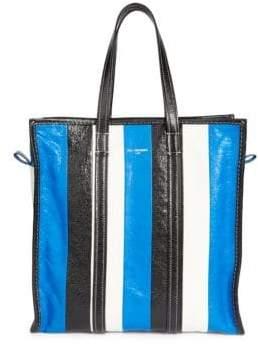 Balenciaga Medium Bazar Stripe Shopper