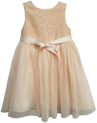 Marmellata Sleeveless Sequin Mesh Ballerina Dress - Baby Girls