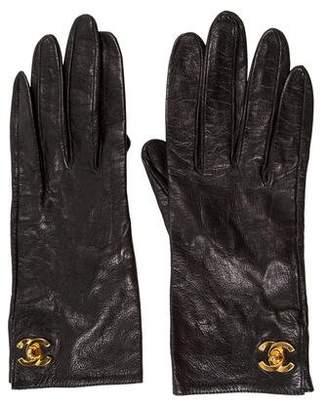 Chanel Lambskin Turn-Lock Gloves