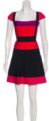 Herve Leger Lola Colorblock Dress