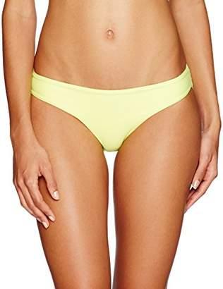 Pilyq Women's Basic Ruched Seamless Full Bikini Bottom