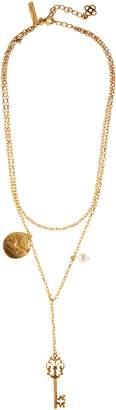 Oscar de la Renta Charm Key Layered Y-Necklace