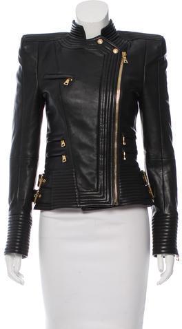 BalmainBalmain Leather Structured Jacket w/ Tags