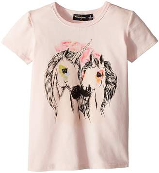 Rock Your Baby Unicorn Love Short Sleeve Tee Girl's T Shirt