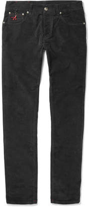 Isaia Slim-Fit Stretch-Cotton Corduroy Trousers