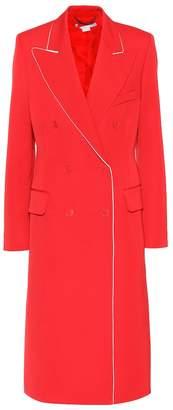 Stella McCartney Contrast-piped wool coat