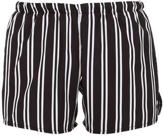 Yes I Am Striped Nylon Swim Shorts