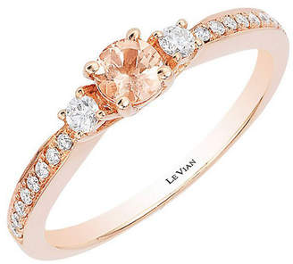 LeVian Le Vian 14K Strawberry Gold .36 Ct. Tw. Diamond & Peach Morganite Ring