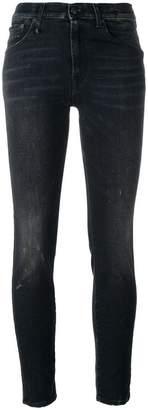 R 13 stonewashed skinny jeans