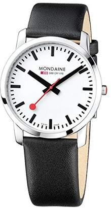 Mondaine Unisex A6383035011SBB Simply Elegant Analog Display Swiss Quartz Watch