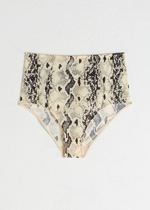 And other stories Snake Print High Waisted Briefs