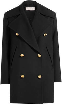 Nina Ricci Wool Coat with Silk