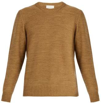 Arjé - Ostuni Cotton And Wool Blend Sweater - Mens - Brown