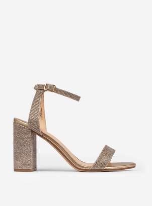 18abd25cf Dorothy Perkins Womens Wide Fit Gold Shimmer Heel Sandals