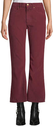 The Great The Western Crop Flare-Leg Corduroy Jeans