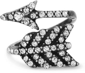 Steve Madden Pave Rhinestone Wrapped Arrow Ring