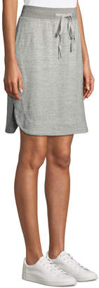 James Perse Pull-On Straight Fleece Skirt